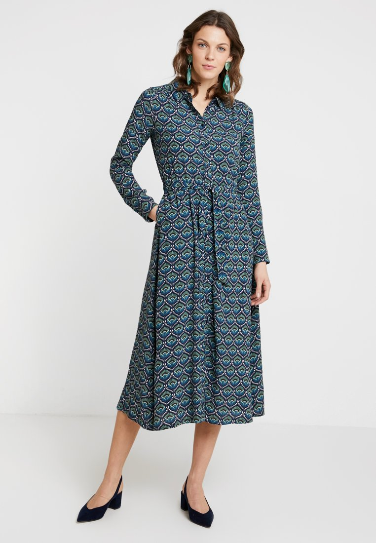 King Louie - MIDI DRESS ADONIS - Maxiklänning - dark navy