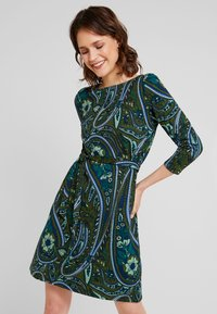 King Louie - ZOE DRESS TEARDROP - Strikkjoler - olive green - 0