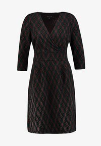 King Louie - CROSS TULIP DRESS ARGYLE - Strickkleid - black - 3