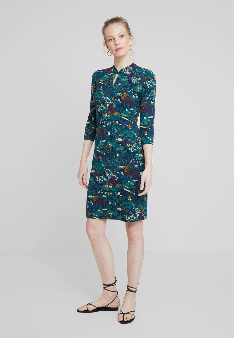 King Louie - CHINESE DRESS MANZAI - Žerzejové šaty - autumn blue
