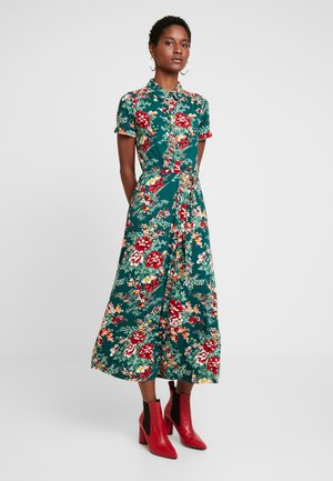 DRESS MIDI MAKURA - Maxikjole - dragon fly green