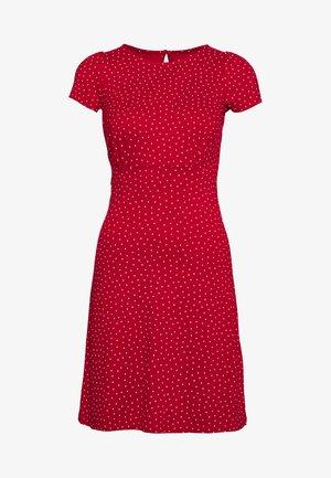 MINI DRESS LITTLE DOTS - Jerseykjoler - chili red