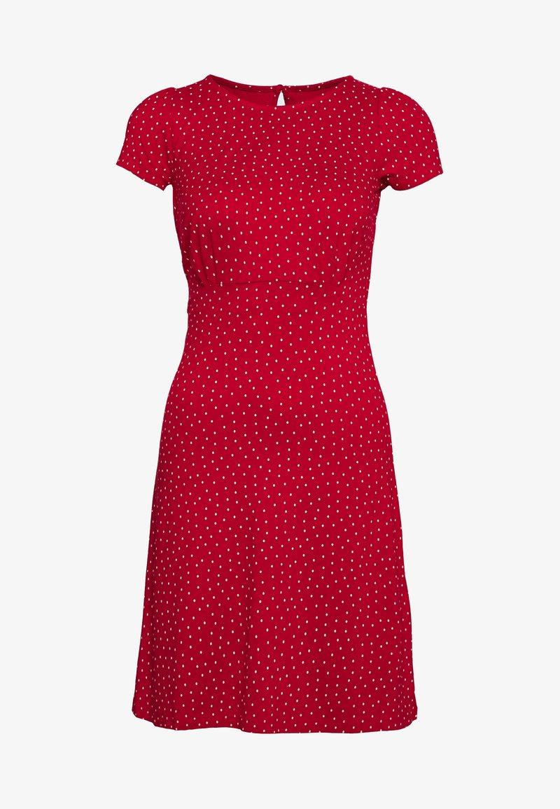 King Louie - MINI DRESS LITTLE DOTS - Žerzejové šaty - chili red