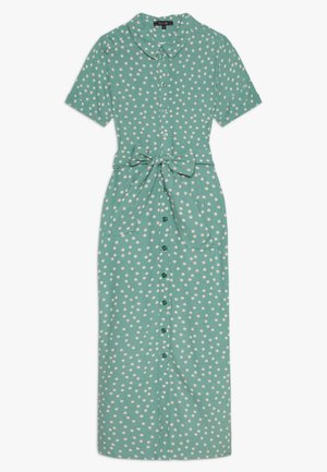 ROSIE MIDI DRESS DOMINO DOT - Košilové šaty - spar green