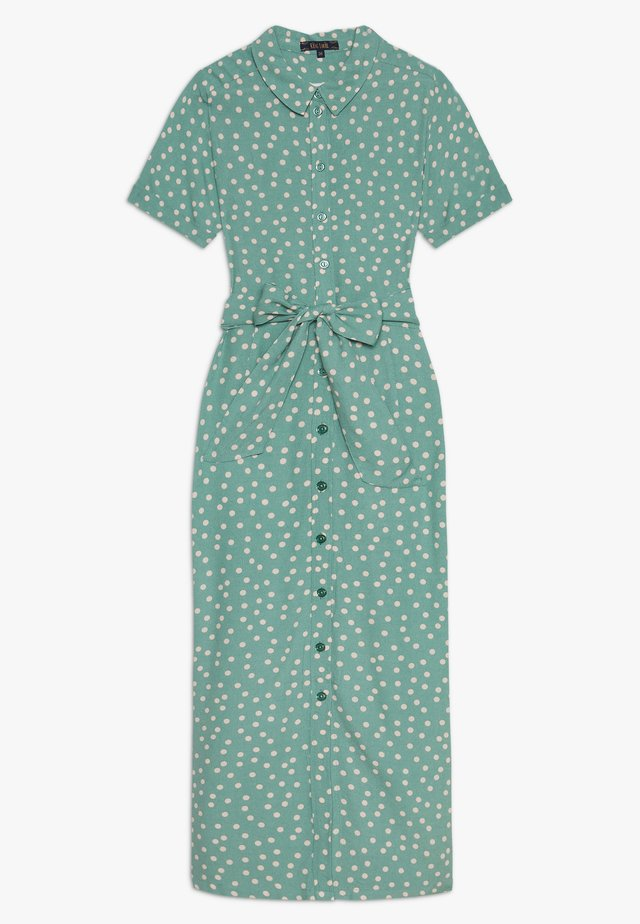 ROSIE MIDI DRESS DOMINO DOT - Skjortekjole - spar green