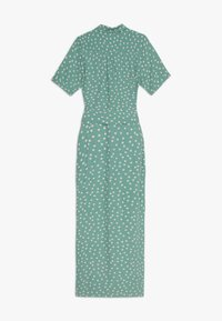 King Louie - ROSIE MIDI DRESS DOMINO DOT - Košilové šaty - spar green