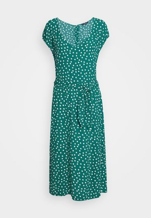 VERA LOOSE FIT DRESS DOMINO DOT - Denní šaty - antique green