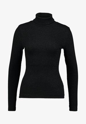 ROLLNECK - Maglietta a manica lunga - black