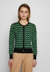 King Louie - CARDI ROUNDNECK NAMASTE - Strikpullover /Striktrøjer - very green - 0