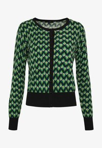 King Louie - CARDI ROUNDNECK NAMASTE - Trui - very green - 3