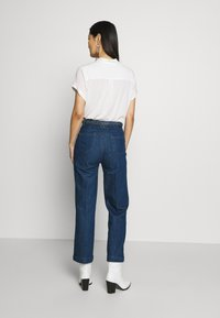 King Louie - GARBO CROPPED BRAID PANTS - Jeans Straight Leg - blue - 2