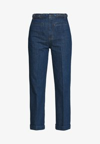 King Louie - GARBO CROPPED BRAID PANTS - Jeans Straight Leg - blue - 3