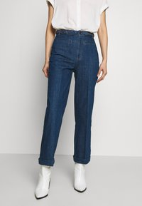 King Louie - GARBO CROPPED BRAID PANTS - Jeans Straight Leg - blue - 0