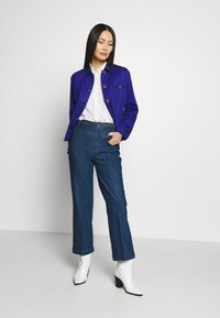 King Louie - GARBO CROPPED BRAID PANTS - Jeans Straight Leg - blue - 1