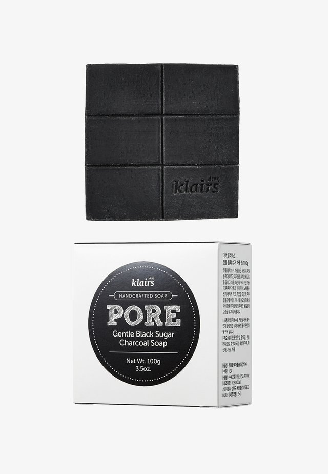 PORE GENTLE BLACK CHARCOAL SOAP - Fast tvål - -