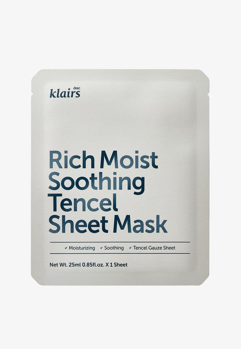 klairs - RICH MOIST SOOTHING MASK 23ML 2 MASKS PACK  - Masker - -