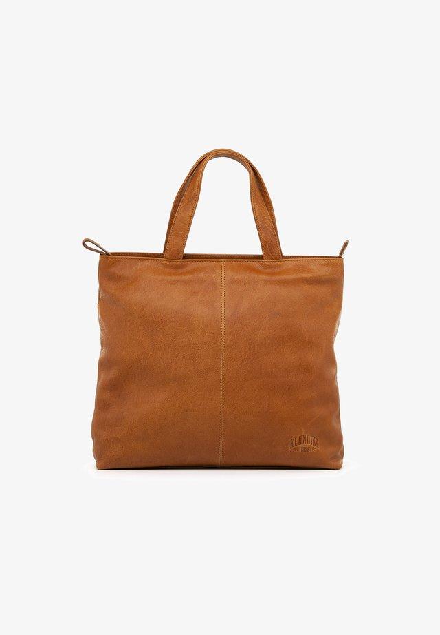 ALICIA - Tote bag - cognac