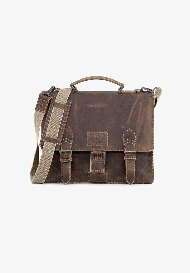 LIAM - Briefcase - dunkelbraun