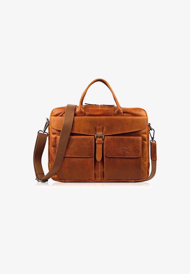 CARL - Briefcase - cognac