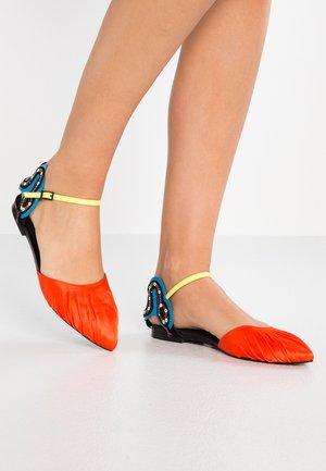 TALIA - Ankle strap ballet pumps - multicolor/pink