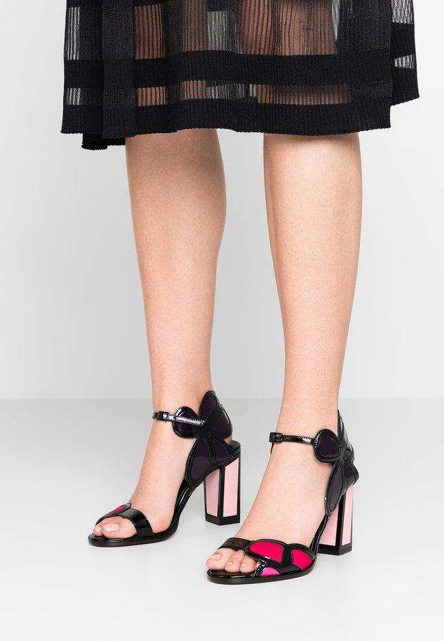 DENA - High heeled sandals - black/pink