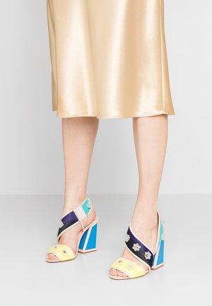 MIMI - Sandály na vysokém podpatku - nude/multicolor