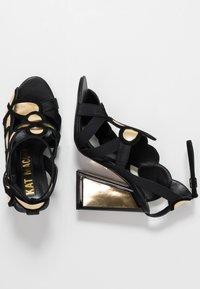 Kat Maconie - VIVI - Højhælede sandaletter / Højhælede sandaler - gold/black - 3