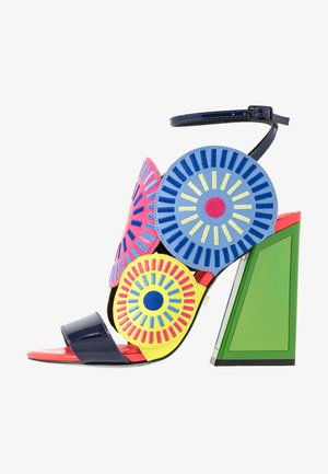 FRIDA - High heeled sandals - glitch/multicolor