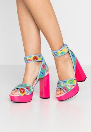 CHARLIE - High heeled sandals - lipstick pink/multicolor