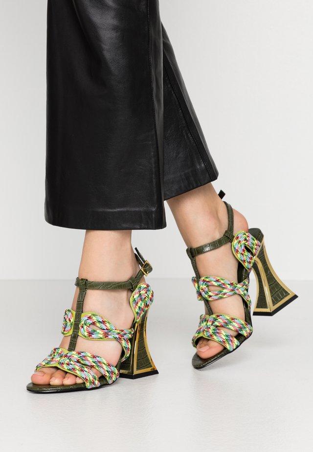 SISSY - High heeled sandals - pond/multicolor