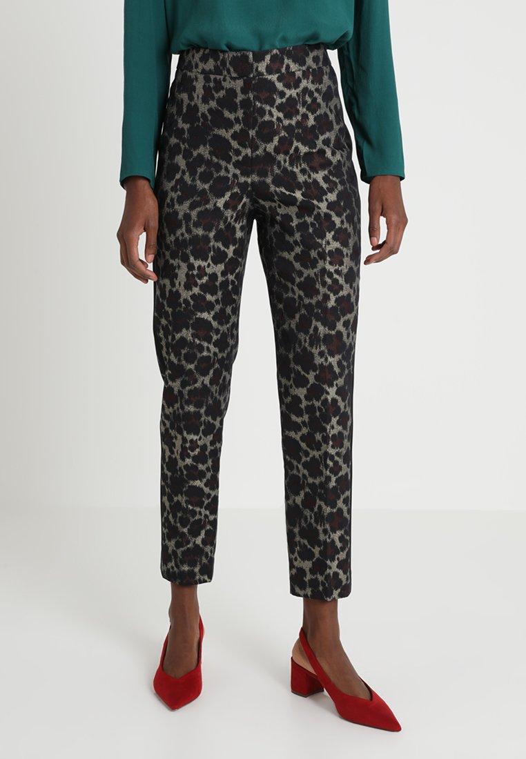 Karen Millen - LEOPARD TUXEDO COLLECTION - Trousers - multicoloured