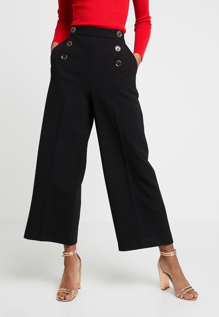 Karen Millen - SLEEK SHARP SUMMER COLLECTION - Trousers - black
