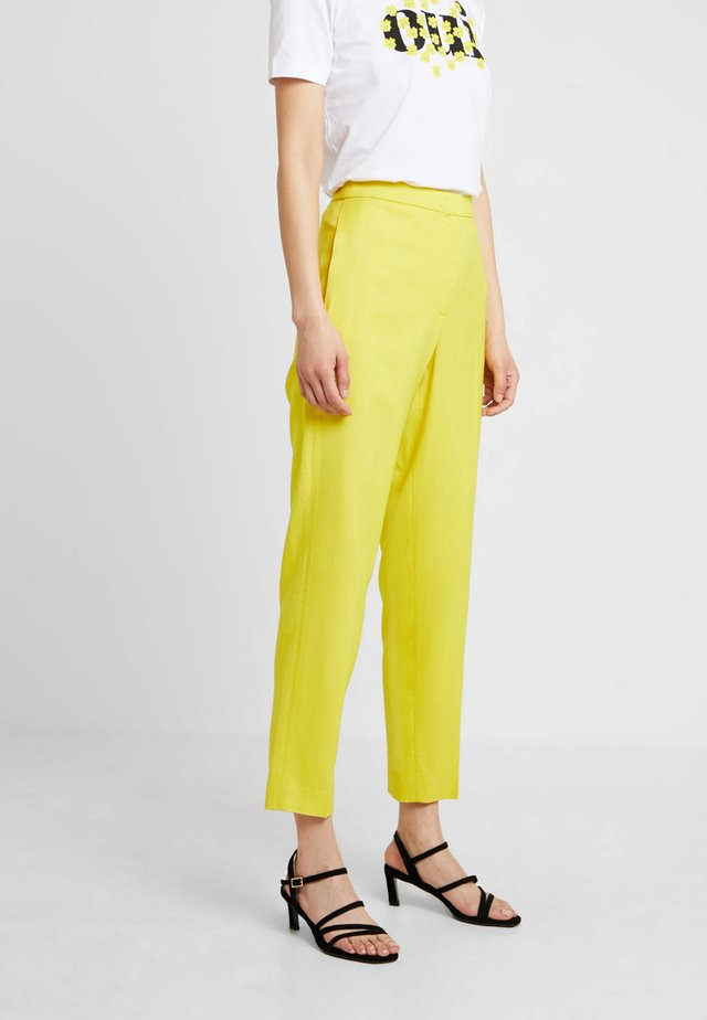 SHARP SUMMER - Trousers - yellow