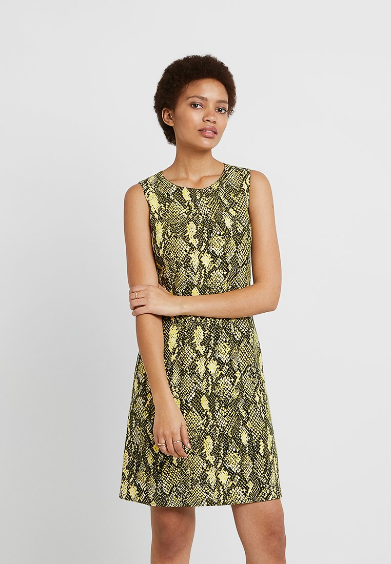 Karen Millen - SNAKE PRINT COLLECTION - Day dress - yellow