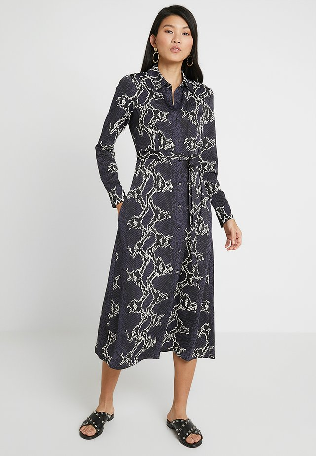 SNAKE PRINT WITH UTILITY DETAILS COLLECTION - Blusenkleid - black