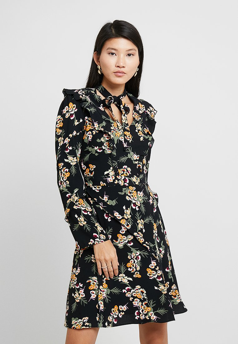 Karen Millen - DARK DAISY PRINT - Day dress - multicolour