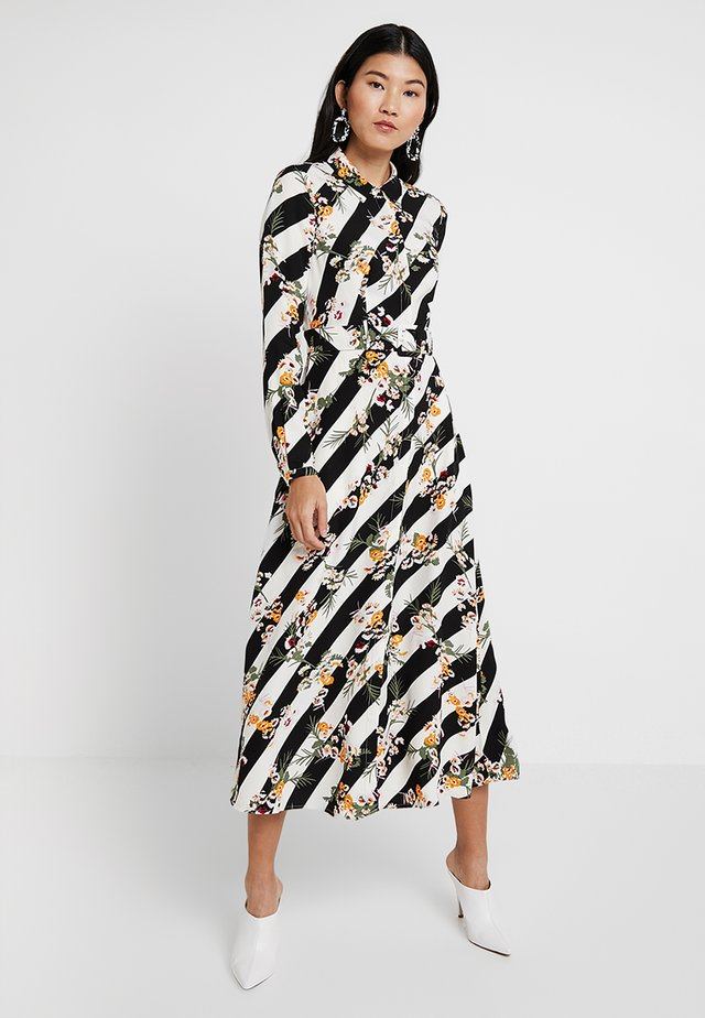 FLORAL STRIPE DRESS - Maxi dress - multicolour
