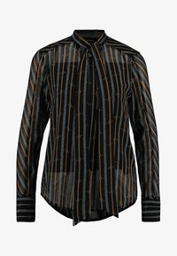 Karen Millen - BUCKLE AND CHAIN PRINT COLLECTION - Button-down blouse - brown/multi - 4