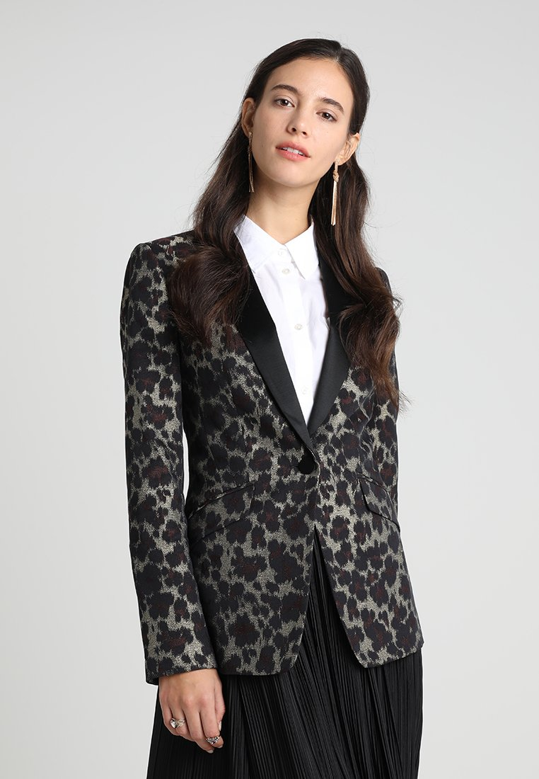 Karen Millen - LEOPARD TUXEDO COLLECTION - Blazer - multicoloured