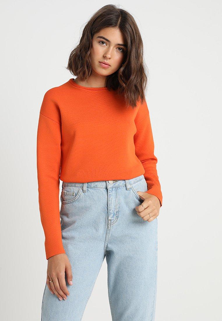 Karen Millen - COLOURPOP ZIP BACK JUMPER - Strickpullover - orange