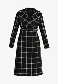 Karen Millen - BOLD CHECK WRAP COAT - Classic coat - black/multi - 5