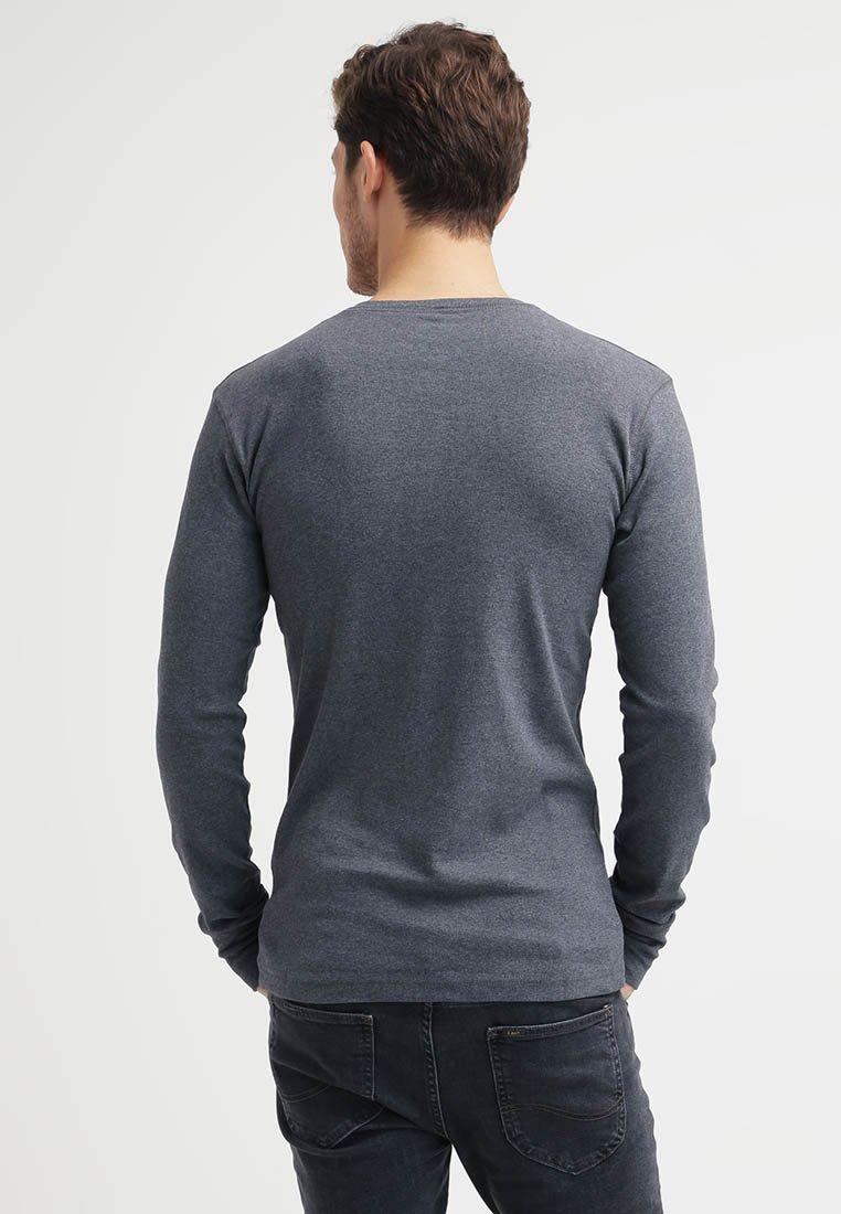 Knowledge Cotton Apparel Bluzka z długim rękawem - dark grey