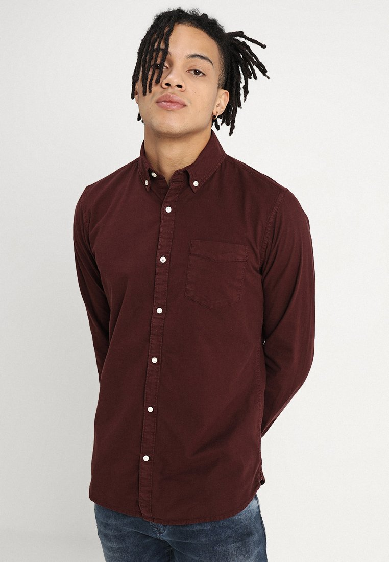 Knowledge Cotton Apparel - OXFORD SHIRT  - Chemise - decadent chokolade
