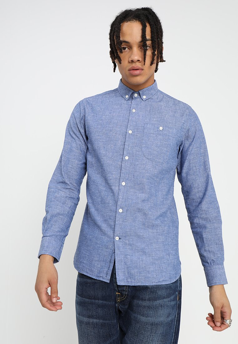 Knowledge Cotton Apparel - LONG SLEEVED - Camicia - heritage blue