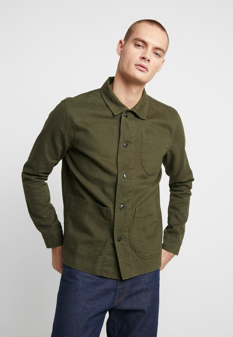 Knowledge Cotton Apparel - HEAVY OVERSHIRT WITH SIDE POCKETS - Shirt - green forest