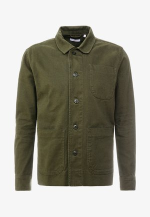 HEAVY OVERSHIRT WITH SIDE POCKETS - Košile - green forest