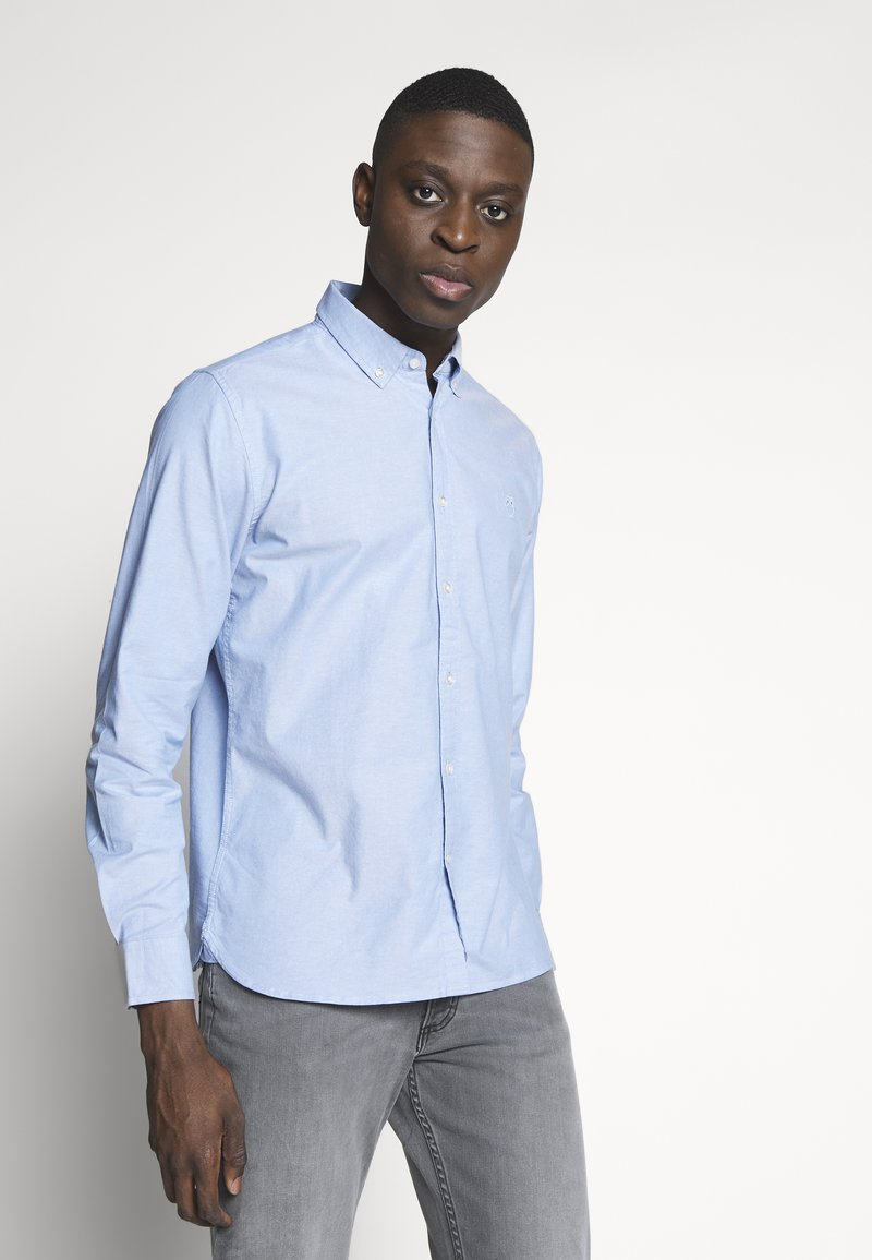 Knowledge Cotton Apparel - ELDER SMALL OWL OXFORD - Shirt - lapis blue