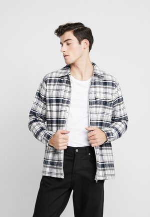 QUILTED CHECKED OVERSHIRT VEGAN - Jas - dark grey melange