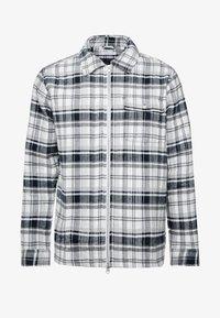 Knowledge Cotton Apparel - QUILTED CHECKED OVERSHIRT VEGAN - Välikausitakki - dark grey melange - 4