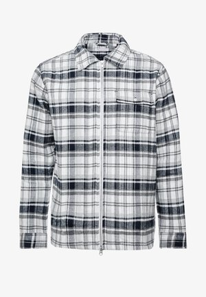 QUILTED CHECKED OVERSHIRT VEGAN - Allvädersjacka - dark grey melange